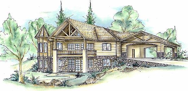 Tudor House Plan 86720 with 2 Beds, 3 Baths, 2 Car Garage Elevation