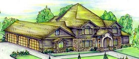 Tudor House Plan 86723 Elevation