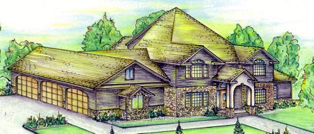 Tudor House Plan 86723 with 4 Beds, 4 Baths, 3 Car Garage Elevation