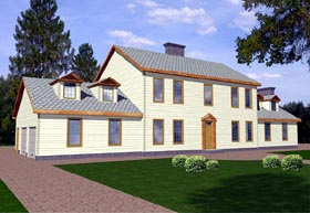 Colonial House Plan 86725 Elevation