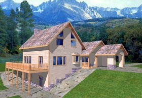 Contemporary House Plan 86727 Elevation