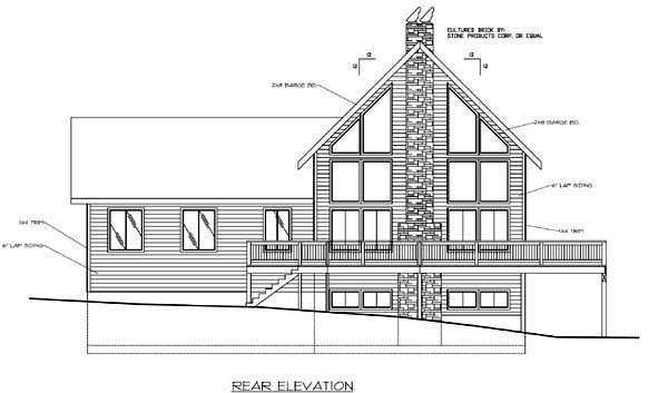 Contemporary House Plan 86727 Rear Elevation