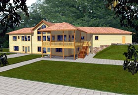 Contemporary House Plan 86728 Elevation