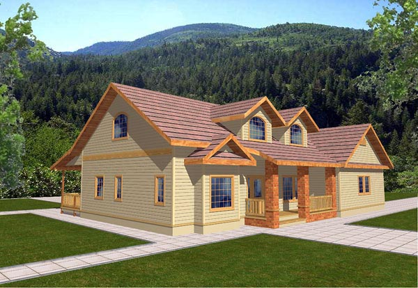 Traditional House Plan 86731 with 3 Beds, 3 Baths, 2 Car Garage Elevation