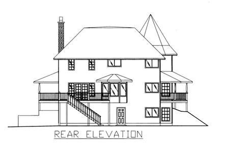Victorian House Plan 86733 Rear Elevation