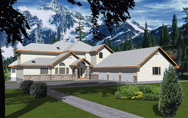 Traditional House Plan 86735 Elevation