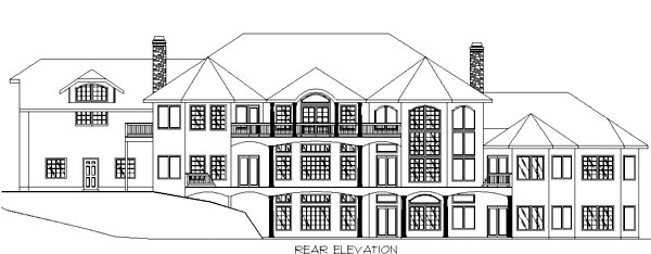 Traditional House Plan 86740 Rear Elevation
