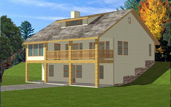 Traditional House Plan 86743 with 4 Beds, 3 Baths Elevation