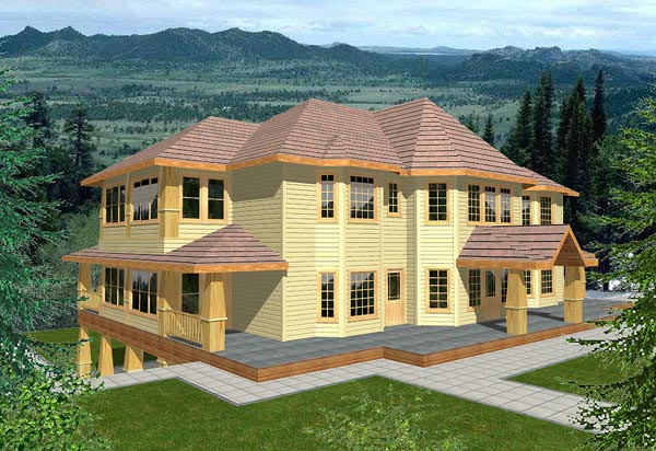 Traditional House Plan 86745 with 3 Beds, 4 Baths, 4 Car Garage Elevation