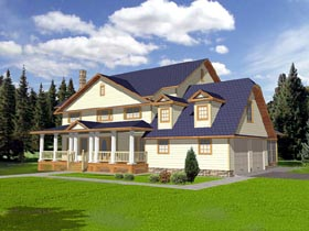 House Plan 86746 | Country Style Plan with 3928 Sq Ft, 5 Bedrooms, 5 Bathrooms, 2 Car Garage Elevation