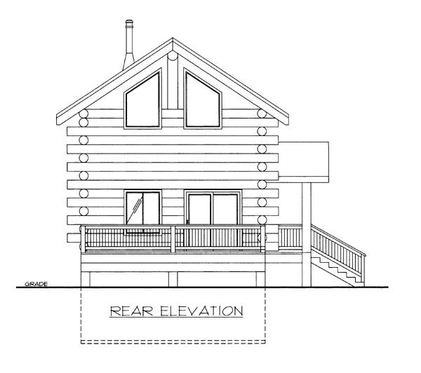 Log House Plan 86747 Rear Elevation