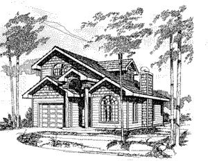Craftsman , Elevation of Plan 86749