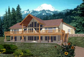 Contemporary House Plan 86753 Elevation