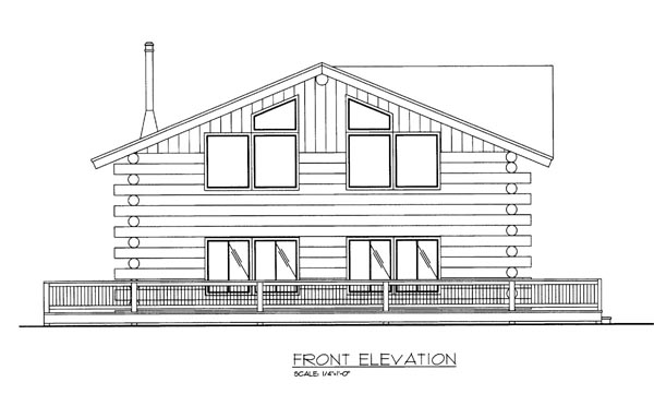 Log Elevation of Plan 86757