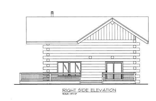 Log House Plan 86757 with 1 Beds, 2 Baths Picture 1