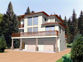 Contemporary House Plan 86758 Elevation