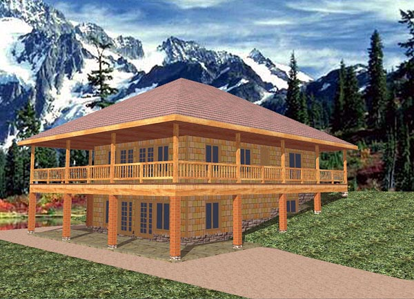 Traditional House Plan 86763 with 3 Beds, 3 Baths Elevation