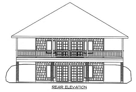 Traditional House Plan 86763 Rear Elevation