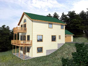 Traditional House Plan 86764 with 4 Beds, 3 Baths, 2 Car Garage Elevation