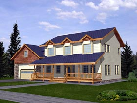 Country House Plan 86766 Elevation