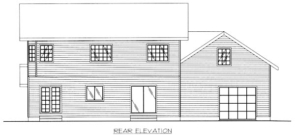 Country House Plan 86766 with 4 Beds, 3 Baths, 2 Car Garage Rear Elevation