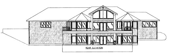 Contemporary House Plan 86767 Rear Elevation