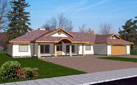 Traditional House Plan 86768 with 3 Beds, 3 Baths, 2 Car Garage Elevation