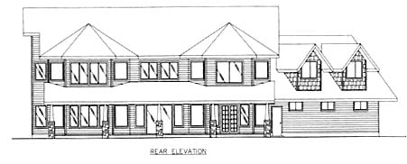 Country House Plan 86769 Rear Elevation