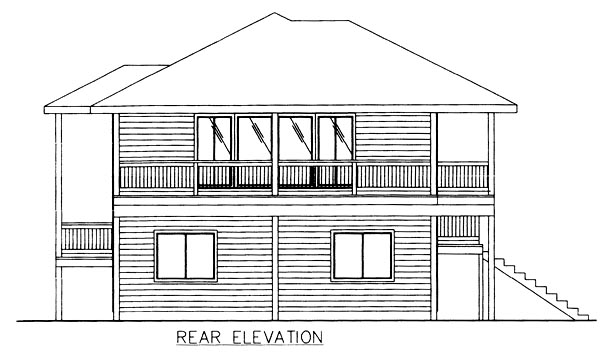 Traditional House Plan 86770 Rear Elevation