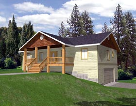 House Plan 86774 | Craftsman Style Plan with 2763 Sq Ft, 3 Bedrooms, 2 Bathrooms, 2 Car Garage Elevation