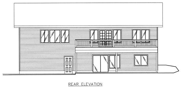 Craftsman House Plan 86774 Rear Elevation