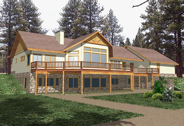 Traditional House Plan 86775 with 4 Beds, 3 Baths, 3 Car Garage Elevation