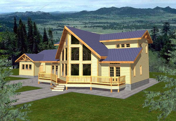 Contemporary House Plan 86778 Elevation