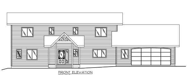Contemporary House Plan 86778 Rear Elevation