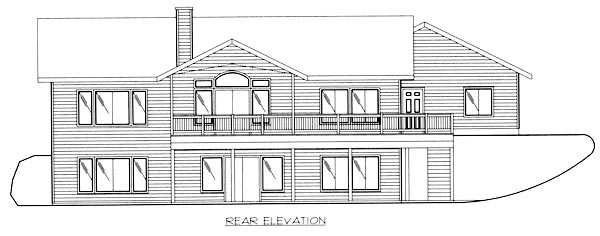 Traditional House Plan 86779 Rear Elevation
