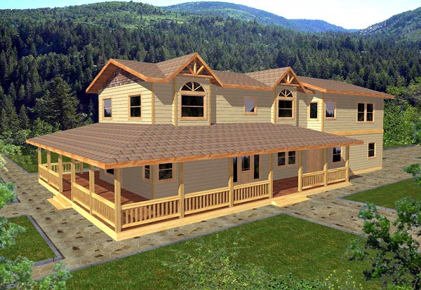 Country House Plan 86780 with 3 Beds, 3 Baths, 2 Car Garage Elevation