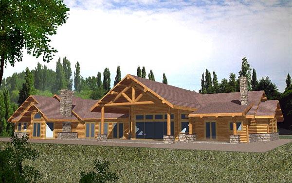 House Plan 86781 Rear Elevation