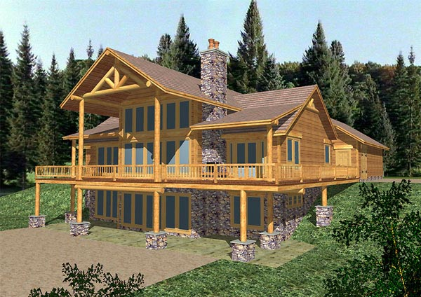 Traditional House Plan 86782 Rear Elevation