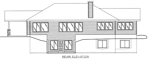 Traditional House Plan 86784 Rear Elevation