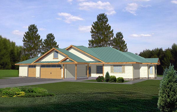 Traditional House Plan 86786 with 2 Beds, 2 Baths, 3 Car Garage Elevation