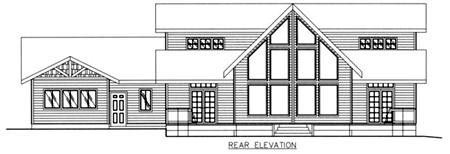 Traditional House Plan 86787 Rear Elevation
