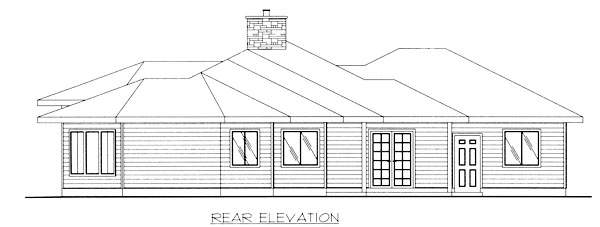 Traditional House Plan 86789 Rear Elevation