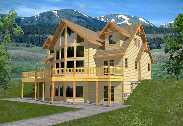 Contemporary House Plan 86790 Elevation