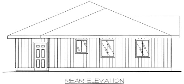 Traditional House Plan 86791 Rear Elevation
