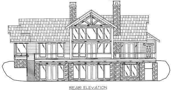 Craftsman House Plan 86794 Rear Elevation