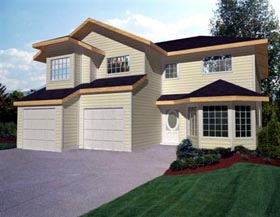 Traditional House Plan 86796 with 3 Beds, 3 Baths, 2 Car Garage Elevation