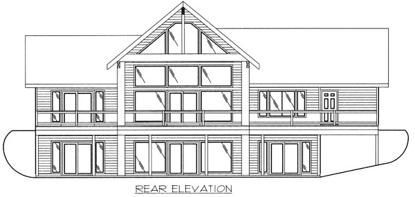 Contemporary House Plan 86798 Rear Elevation