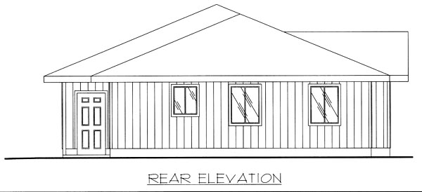 Traditional House Plan 86801 Rear Elevation