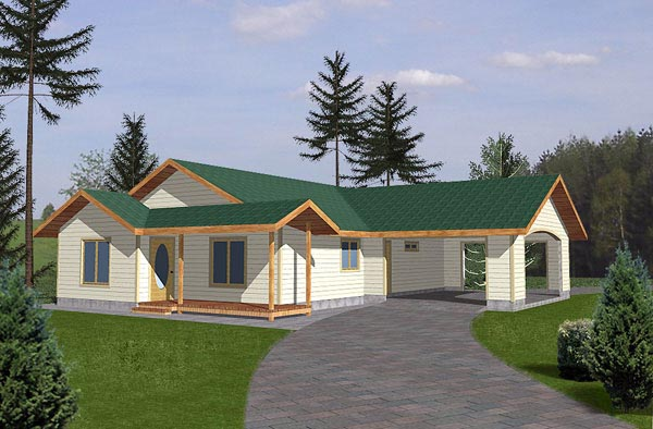 Traditional House Plan 86802 Elevation