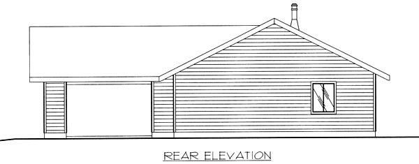 Traditional House Plan 86802 Rear Elevation
